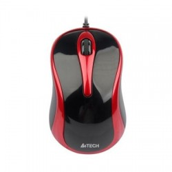 Mouse laptop A4Tech N-350-2, V-Track Padless Mouse USB (Black+Red)